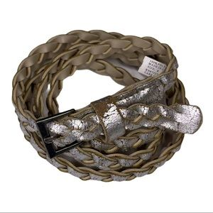 Distressed Silver Braided Belt Size 8